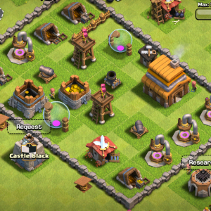 My town in Clash of Clans