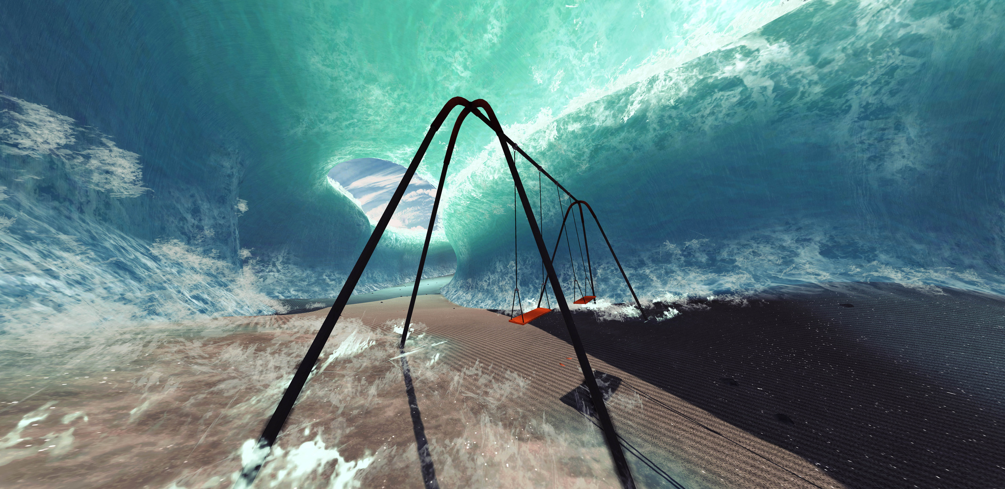 """Just keep swinging ♫"" by Zephyr from Mind: Path to Thalamus"